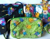 Adventure Time Finn,Jake, Princess Bubblegum, Ice King Quilted Purse,Quilted Inside/Out,,Inside Key Clip,Coin Purse Handcrafted Your Choice