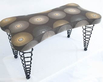 Modern Upholstered Bench, Handmade Original