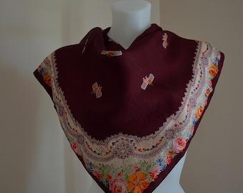 Vintage Liberty of London Silk Scarf, Vintage Silk Scarf, Vintage Ladies Silk Scarf, 1970s Silk Scarf, Liberty of London