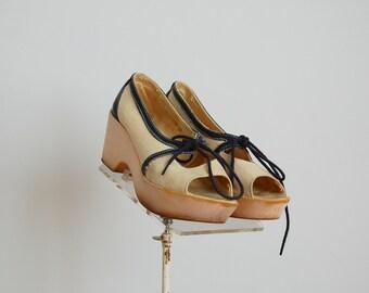 Vintage 1970s Shoes - 70s Platform Shoes - The Pamela