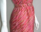 60s vtg dress madmen Fred Rothschild of California