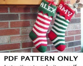 Knitting Pattern - Christmas Stocking Knitting Pattern - First Annual Fiddlestyx Christmas Stocking -  the HARVEY Xmas Stocking Pattern