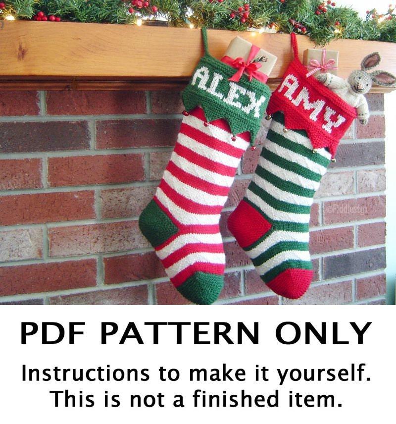 Knitting Pattern Christmas Stocking Knitting Pattern First