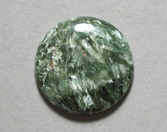 green SERAPHINITE round disc cabochon 28mm designer cab