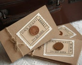 RESERVED for lyda - 25 x Lottery Scratch Card Holders 'Your Ticket To Riches' - kraft brown with rustic twine - Custom Order