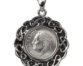 7th Anniversary Gift - 2009 Coin Pendent - 2009 US dime