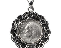 49th Birthday Gift - 1967 Coin Pendent - 1967 US dime