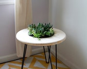 Planter Side Table // Handmade with Planter Insert // Steel Hairpin Legs