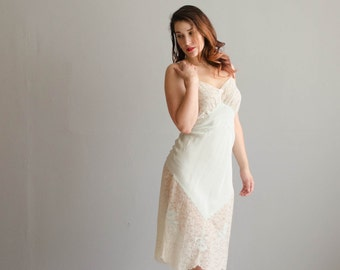 Vintage 1940s Lace Slip - 40s Rayon Slip - Great Heights Full Slip