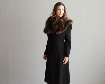 1930s Fur Collar Coat - Vintage 30s Coat - On the Sly Coat