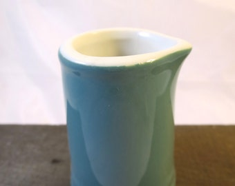 Hall China Tankard Creamer Monterey Green 2.5 oz # 809 Individual Tanker Personal Size Pitcher Restaurant Ware Small Hall Green Creamer