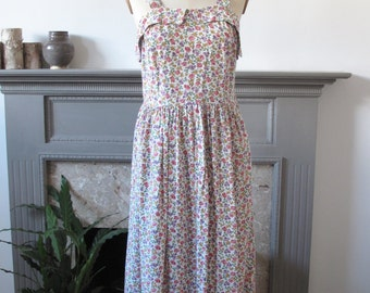 1950s liberty print dress M with bolero jacket