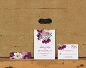 Bright Botanical Wedding Invitations,Rustic Boho Wedding Invitation,Bright  Floral Wedding Invite,Rustic Floral Wedding Invites,Boho Wedding