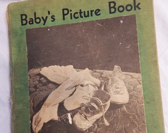 Vintage Baby's Picture Book 1932 crafting framing