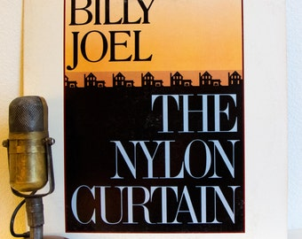 "ON SALE Billy Joel Vinyl Record Album Lp Vintage 1980s Pop Rock and Roll Suburbia Reagan Years ""The Nylon Curtain"" (1982 Cbs w/""Goodnight Sa"