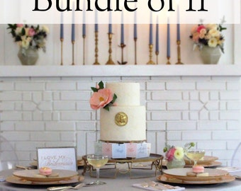Bridal Shower Game - 11 Charm Cake Pulls for your Bridesmaids & Flower Girls