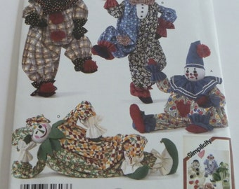 Decorative Clowns Sewing Pattern by Simplicity 2954 UNCUT