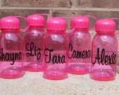 SALE - Monogram Water Bottle - PINK Water Bottle Personalized