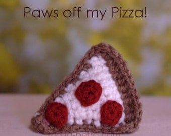 Mini Crochet Pizza Slice Cat Toy > Cat Toy > Crochet > Gifts for Purr