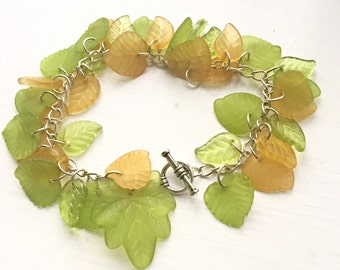 Lucite Spring Leaves
