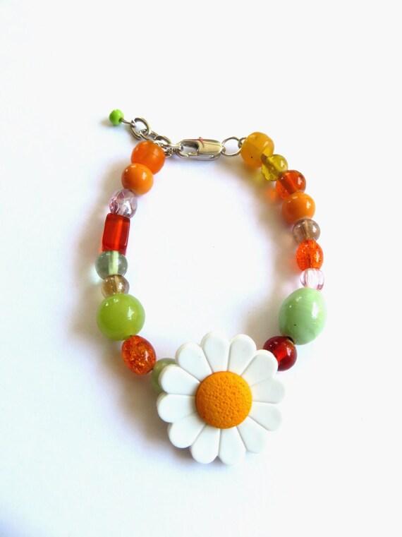 Daisy girl jewelry : Daisy bracelet teen tween jewelry back to by absolutejewelry