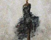 Dancer Painting Figure Painting Ballroom textured Figurative Her Essence 14 x 18 Swalla Studio