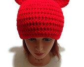 Tomato Bear Hat Red Tomato Beanie Crochet Bear Hat Tomato Bear Kawaii Beanie Cosplay Hat