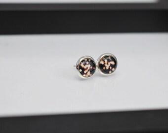 Star Earrings, Tiny Star Studs, Star Bokeh Earrings, Bokeh Light Earrings, Glass Stud Earrings, Bokeh Earrings, Bokeh Jewelry, Star Studs