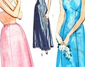 1950s full slip half petticoat Vintage sewing pattern lingerie B36 Simplicity S136 4470 1953