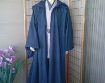 Star Wars Jedi Knight Handmade Robe Navy Color Size M/L Hemmed for You