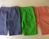 3 Pair Set of Baby Boy Pants 0-3 Month, Navy, Green, Orange...Sale