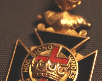 1922 Knights of the Templar/Templar/Knights Templar/Templar Fob/masonic memorabilia/Templar Knight/Templar Shield/Collectible Templar Fob