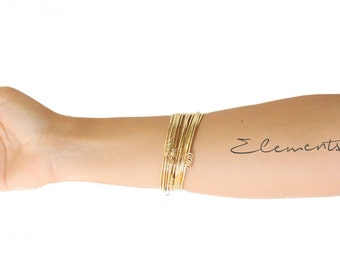 "ELEMENTS II - Gold plated bangle bracelet ""Weekly"" (EHBR03)"