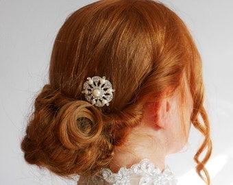 Pearl Art Deco Hair Comb 1920's wedding Bridesmaid Vintage Hair Accessory - small comb