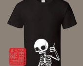 Doin' Fine Black Multicoloured Silkscreened T-Shirt