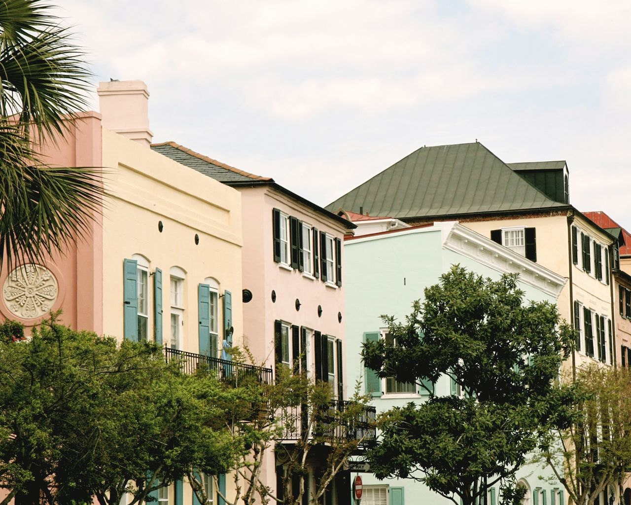 Charleston Print Rainbow Row Photograph Southern Decor