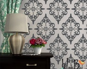 Damask Pattern Vinyl Wall Decal - pattern pack set of 24