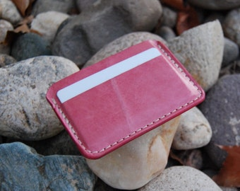 Credit Card Case by Chique Fabrique Pink Leather