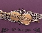 Broche violon - Or Antique, cuivre Antique ou argent Antique; Un Original de BZ Studio