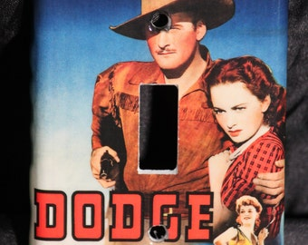 Errol Flynn Dodge City Western Resin Switchplate Light Cover Classic Hollywood Olivia de Havilland Cowboy