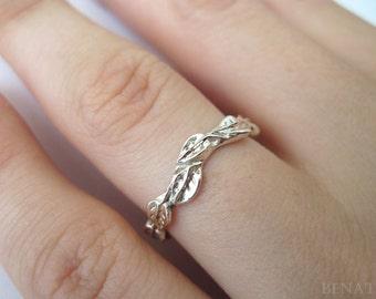 Silver Leaf Wedding Band, Silver Wedding Leves Band, Silver Leaves Ring, Wedding Leaves Ring, Silver wedding band, wedding ring, unique