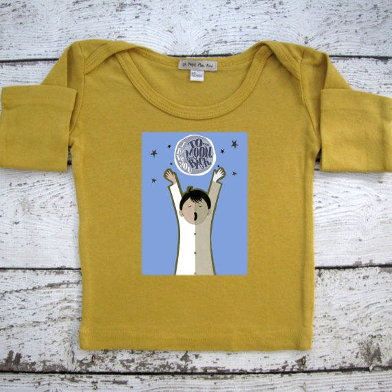 Baby Clothes I Love You To The Moon And Back By Lepetitmonami