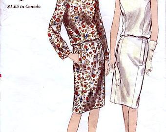 Vogue 6102 Vintage 60s Misses' One Piece Dress Sewing Pattern - Uncut - Size 14 - Bust 34