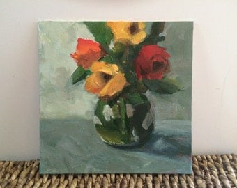 Your Birthday - 10x10 ORIGINAL Acrylic Floral Painting