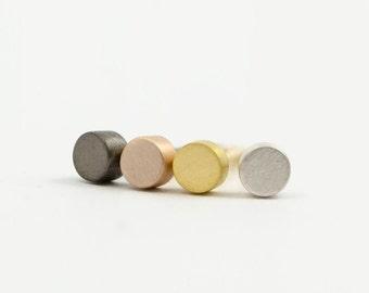 Tiny Silver Dot Studs, Sterling Silver Circle Earrings, Minimal Studs, Silver Stud Earrings, Modern Minimalist Jewelry, Gift, STD008