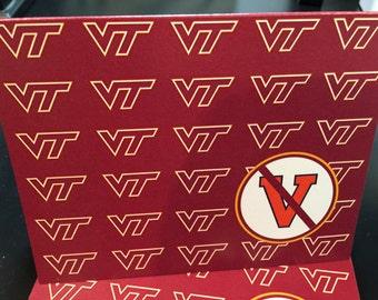 Va. Tech vs UVA note cards set of 10