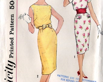 Simplicity 2979 Vintage 1960s Teen Junior Dress B32