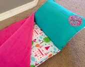 """Nap Mat PREMIUM 60"""" Napmat With Pillow and Blanket- Monogrammed- Thick and Comfy- Removable Pillow"""