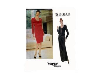 "Women's Suit Sewing Pattern Sweetheart Neckline Wrap Skirt Princess Seams Size 14-18 Bust 36-40"" (92-102 cm) Vogue American Designer 1895 S"