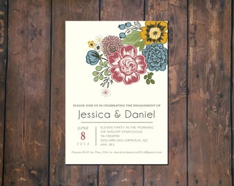 Wedding Flower Announcement